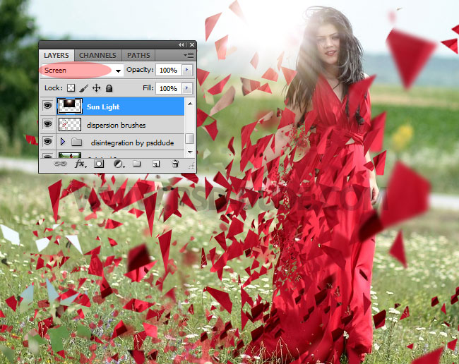add sun light in Photoshop
