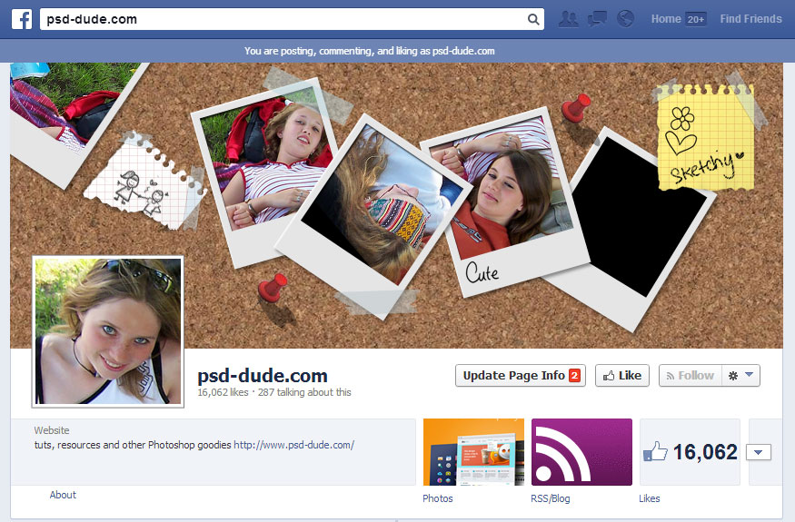 Create Facebook Timeline Cover in Photoshop - Photoshop tutorial ...