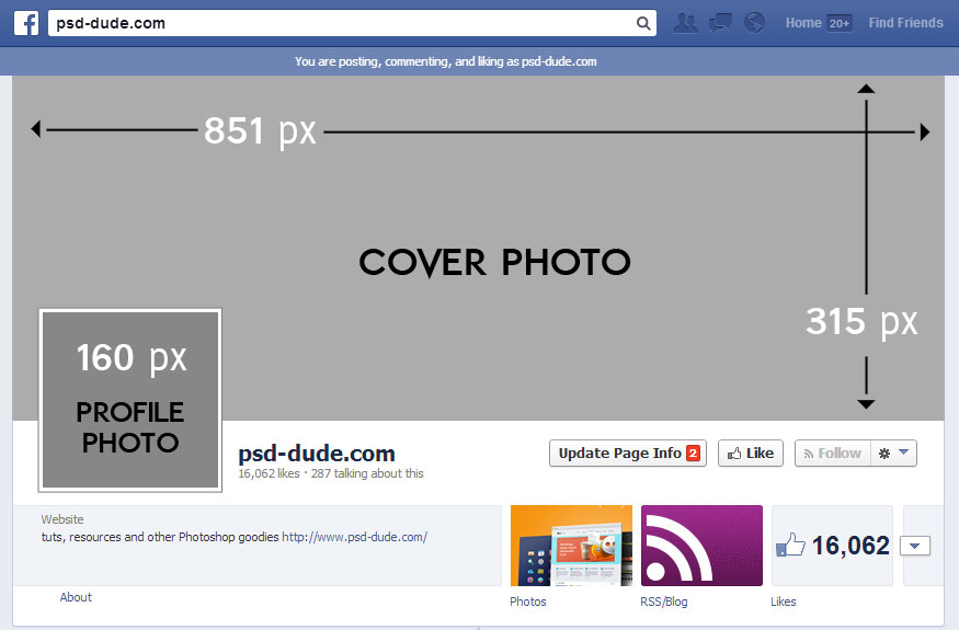 Facebook Cover Photo Size For Photoshop The Facebook Cover Size is