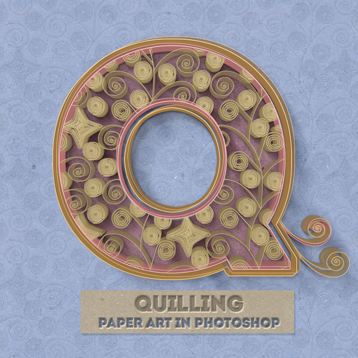 Curled Paper Art With Quilling Photoshop Creator