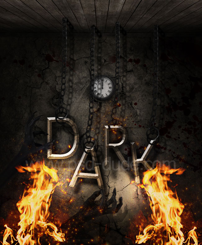 Dark Hell Text Effect in Photoshop