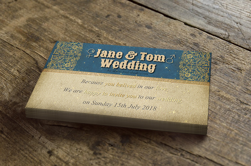 photoshop marriage invitation card template