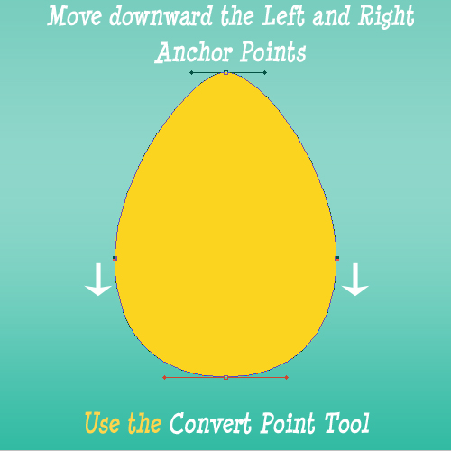 How To Make The Flat Part Of A Vector Egg Shape In Photoshop