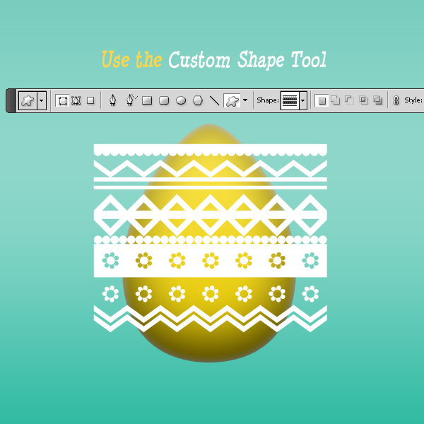 How To Add Decorations To The Easter Egg In Photoshop