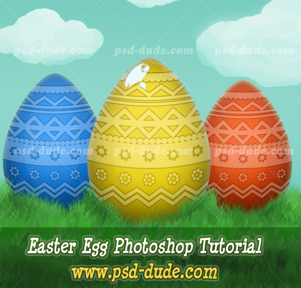 Draw An Easter Egg In Photoshop Photoshop Tutorial Psddude