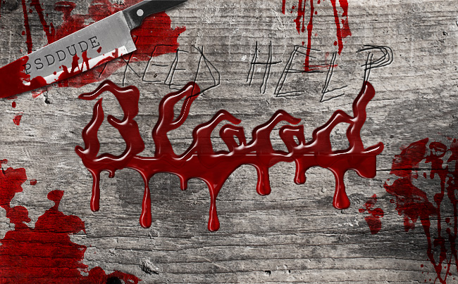 <b>Photoshop </b>Tutorial Dripping Blood Text Effect
