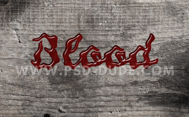 blood text style