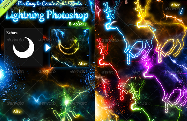 Lightning Effect Photoshop Action
