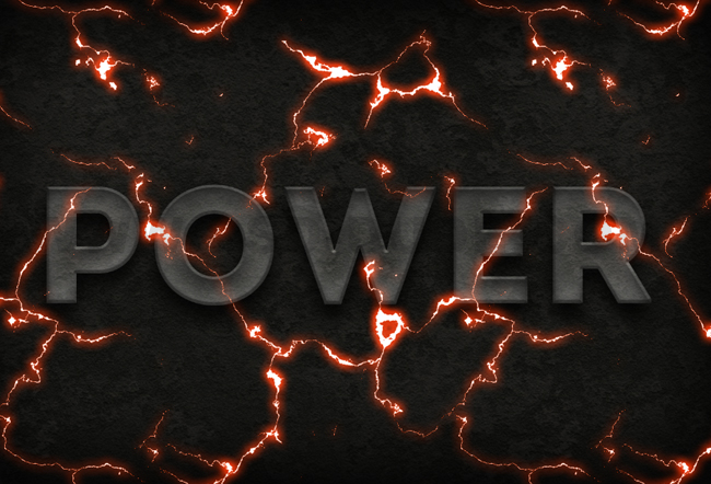 electric text effect in photoshop