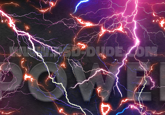 electric lightning texture in photoshop