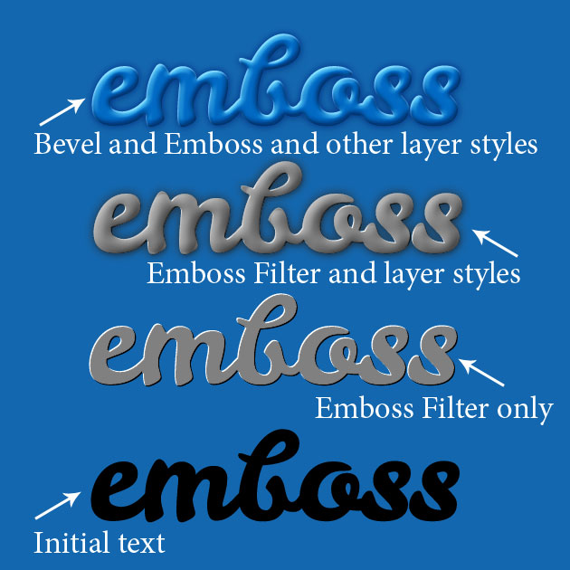 How To Emboss In Photoshop