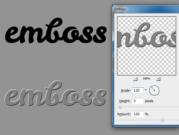 How To Use Emboss Filter In Photoshop