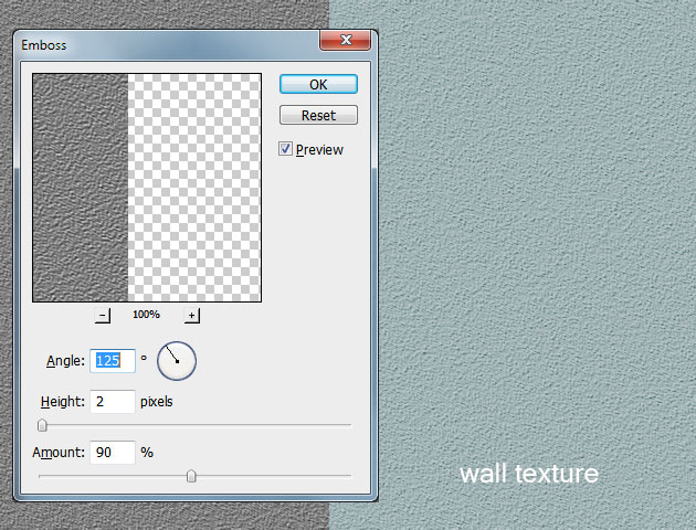 Using Noise And Emboss In Photoshop To Create Rough Texture