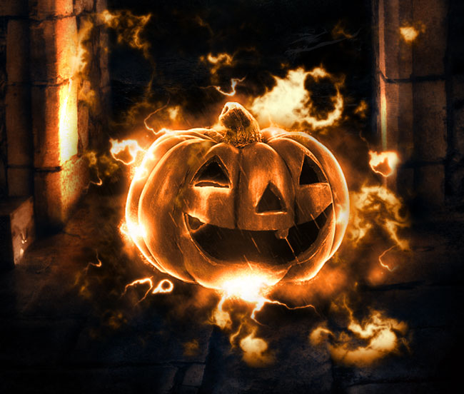 halloween pumpkin photoshop