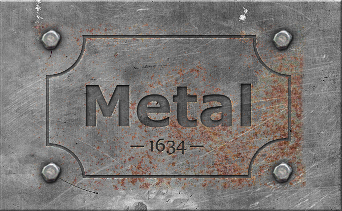 Engraved metal text style photoshop tutorial photoshop tutorial start by creating a rectagle shape using the rectangle tool in a new layer just above the rectangle shape layer add a metal texture that you like ccuart Choice Image