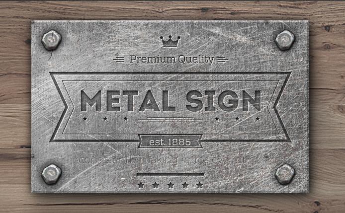 Engraved Metal Text Style Photoshop Tutorial Photoshop