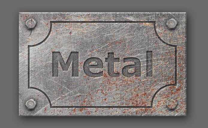 Engraved Metal Text Style Photoshop Tutorial - Photoshop tutorial