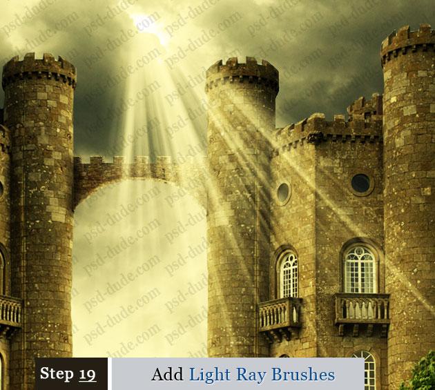 how to create light rays in maya