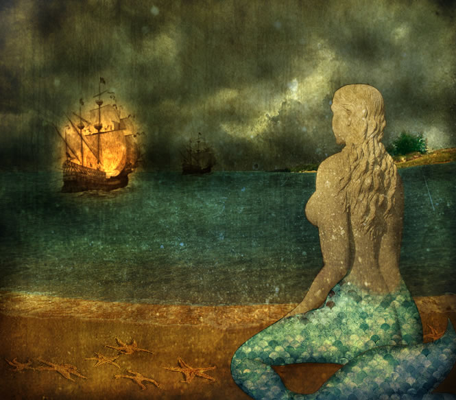 Fairytale Photo Manipulation - The Mermaid