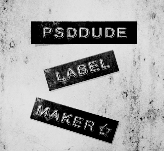 Font Label Maker in Photoshop - Photoshop tutorial | PSDDude