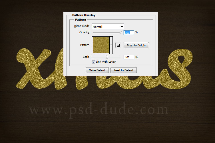 Golden Tinsel Christmas Text Effect in Photoshop - Photoshop