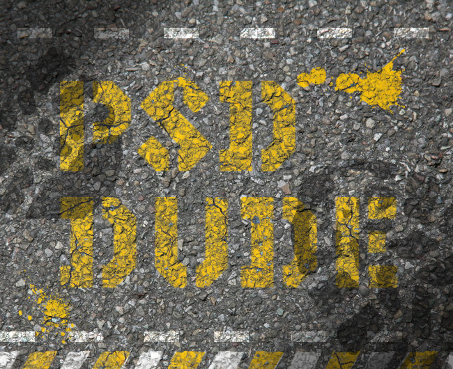Grunge Road Paint Photoshop Text Effect - Photoshop tutorial