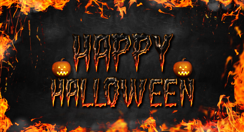 Halloween Fire Text Style Photoshop Tutorial - Photoshop tutorial