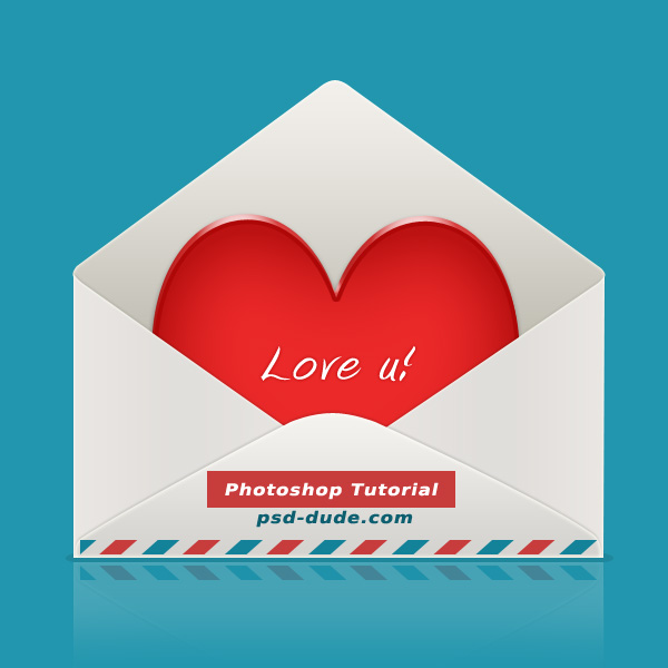 Heart in envelope icon