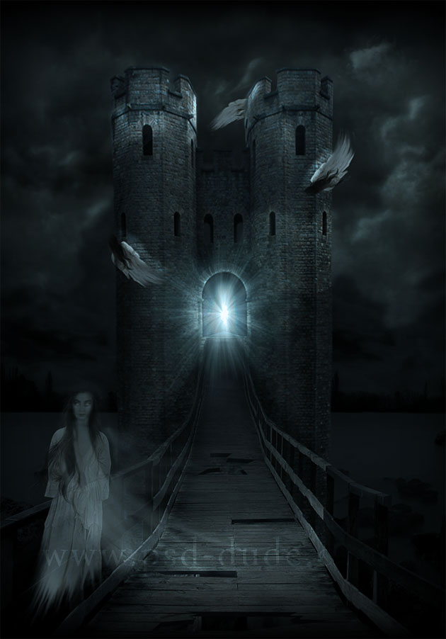 Horror Haunted Castle Photoshop Tutorial