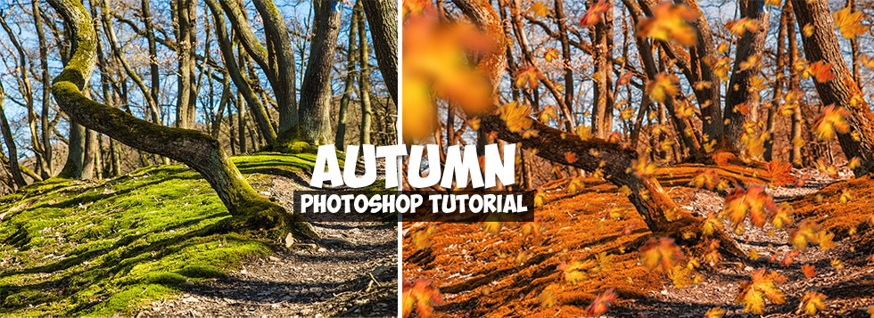 spring to autumn photo effect photoshop tutorial
