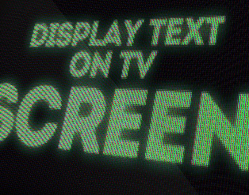 How to Make a TV Screen Texture Text