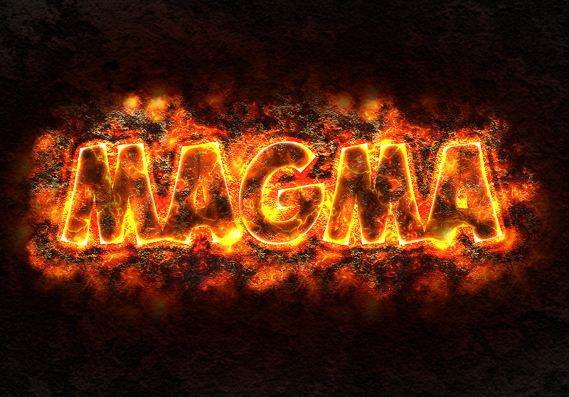 how to create a magma lava text effect in Photoshop