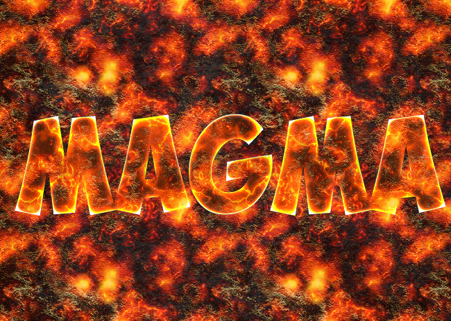 magma texture background in photoshop