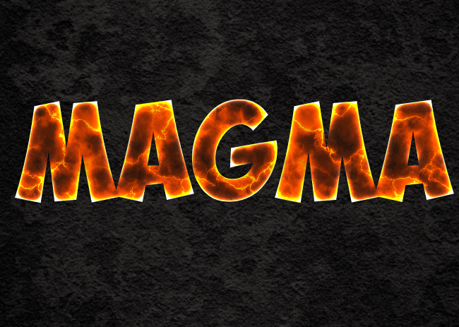 magma layer style in photoshop