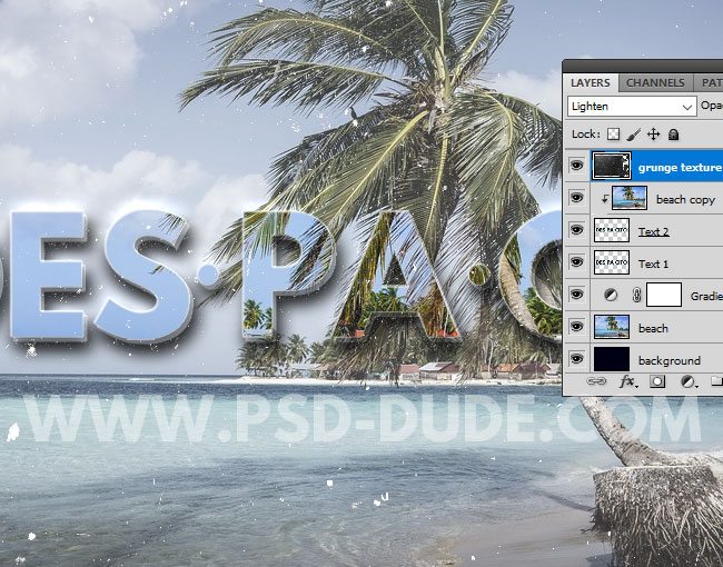how to add image to text photoshop