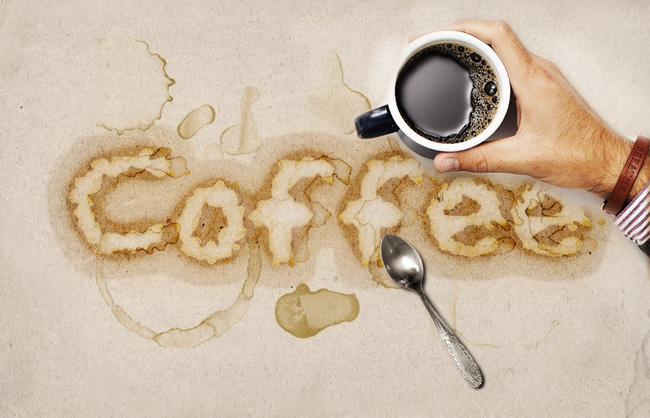 coffee typography mockup photoshop