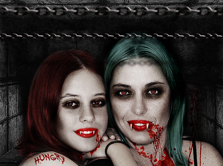 Vampire Photo Editing in Photoshop