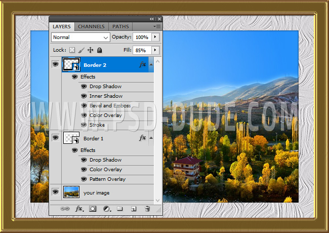 How to Put a Border Around an Image in Photoshop - Photoshop