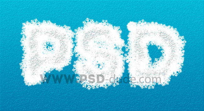 Snow Writing Text Effect Photoshop Tutorial