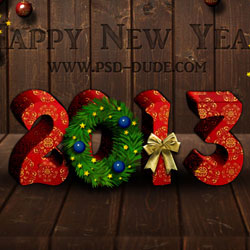 Happy New Year Text Effect Photoshop Tutorial