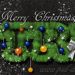 Create a Christmas Tree Photoshop Text Effect psd-dude.com Tutorials
