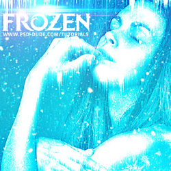 A Frozen Woman psd-dude.com Tutorials