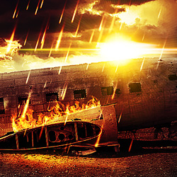 Add Fire to Create an Apocalypse Effect in Photoshop psd-dude.com Tutorials