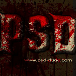 血恐怖文字Photoshop教程PSD-dude.com的教程