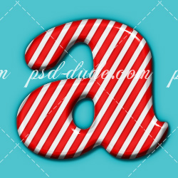 Candy Cane Photoshop Text Effect