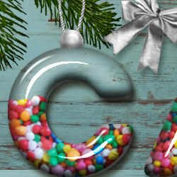Candy Christmas Glass Ball Photoshop Text Tutorial