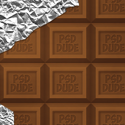 Create a Chocolate Tablet Text Effect in Photoshop psd-dude.com Tutorials