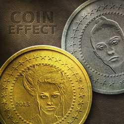 Create a <span class='searchHighlight'>Metal</span> Coin in Photoshop psd-dude.com Tutorials