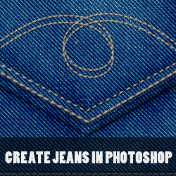 Create Denim Jeans Texture in Photoshop from Scratch psd-dude.com Tutorials