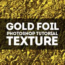 How to Create a Gold Foil Texture in Adobe Photoshop psd-dude.com Tutorials